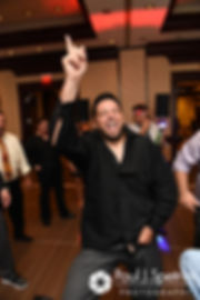 Dallas dances during his September 2017 wedding reception at the Crowne Plaza Hotel in Warwick, Rhode Island.