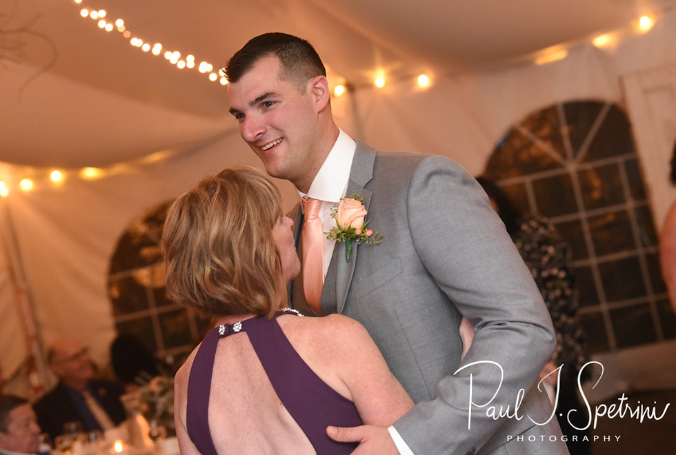 Justin dances with his mother during his November 2018 wedding reception at Five Bridge Inn in Rehoboth, Massachusetts.