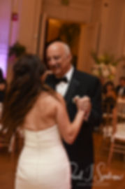 Helen and her father dance during her September 2018 wedding reception at the Rosecliff Mansion in Newport, Rhode Island.