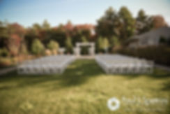 A look at the ceremony site prior to Kelly and Brian's November 2016 wedding ceremony at the Bay Pointe Club in Buzzards Bay, Massachusetts.