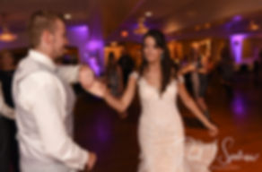 Beth & Bryan dance during their August 2018 wedding reception at McGovern's on the Water in Fall River, Massachusetts.