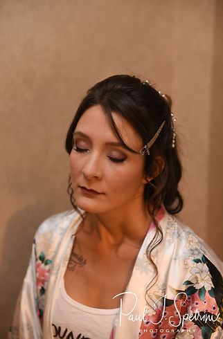 Beth closes her eyes prior to her August 2018 wedding ceremony at Fort Phoenix in Fairhaven, Massachusetts.