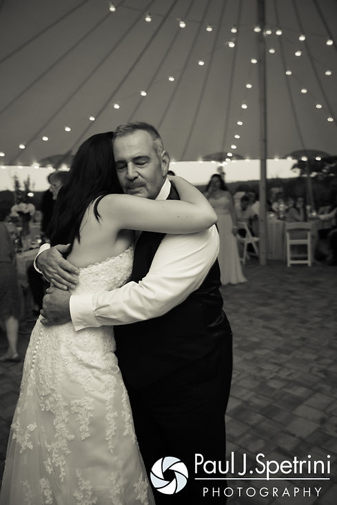 Lauryn and her father dance during her July 2016 wedding reception at the Overlook at Geer Tree Farm in Griswold, Connecticut.