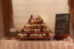 A look at the dessert table prior to Justine & Jon's October 2018 wedding ceremony at Twelve Acres in Smithfield, Rhode Island.