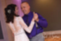 Stacey and her father dance during her December 2018 wedding reception at Independence Harbor in Assonet, Massachusetts.
