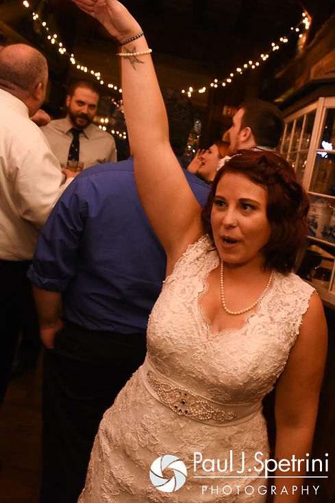 Crystal dances during her November 2016 wedding reception at the Salem Cross Inn in West Brookfield, Massachusetts.