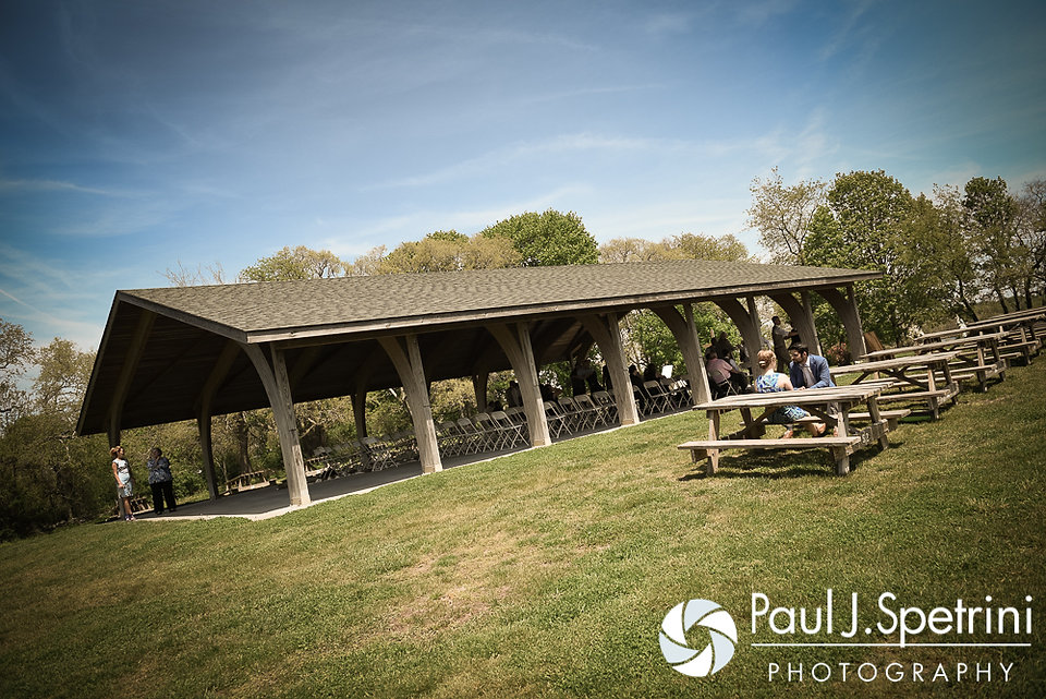 A look at the ceremony site for Krystal and Ian's May 2016 wedding at Colt State Park in Bristol, Rhode Island.