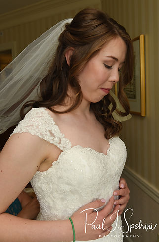 Sarah takes a deep breath prior to her June 2018 wedding ceremony at the College of the Holy Cross in Worcester, Massachusetts.