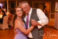 Rick and his daughter dance during his August 2018 wedding reception at Twelve Acres in Smithfield, Rhode Island.