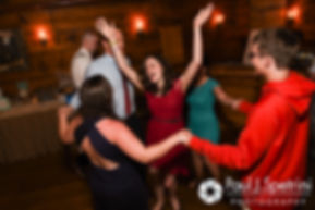Guests dance during Krystal and Ian's May 2016 wedding reception at DeWolf Tavern in Bristol, Rhode Island.