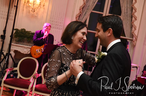 Mike and his mother dance during his September 2018 wedding reception at the Rosecliff Mansion in Newport, Rhode Island.
