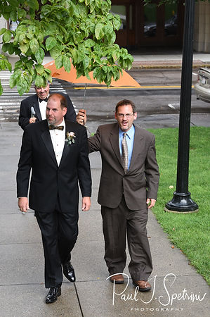 Bob arrives to his August 2018 wedding ceremony at the Walter J. Dempsey Memorial Bandstand in Norwood, Massachusetts.