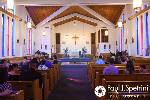 A look at the church prior to Samantha and Dale's October 2017 wedding ceremony at St. Robert's Church in Johnston, Rhode Island.