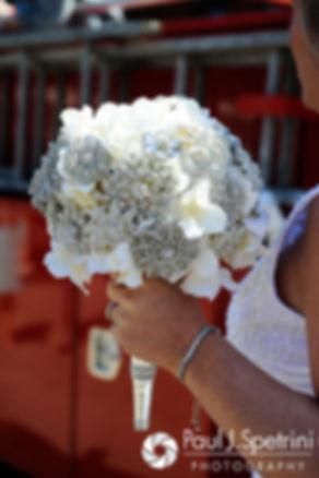 A look at Angela's bouquet for her spring 2016 Rhode Island wedding in Newport, Rhode Island.