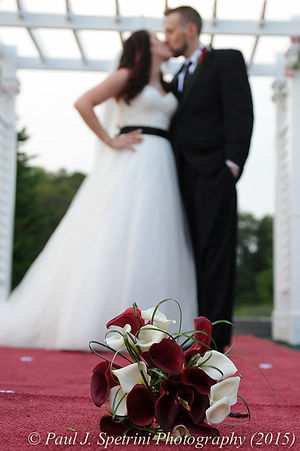 Justin and Jamie Bolani take formal photos after their wedding at Prescott Farms in Portsmouth, Rhode Island in June 2015.