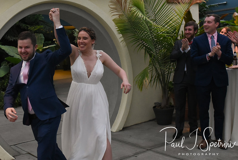 Ali and Gary are introduced during their May 2018 wedding reception at the Roger Williams Park Botanical Center in Providence, Rhode Island.