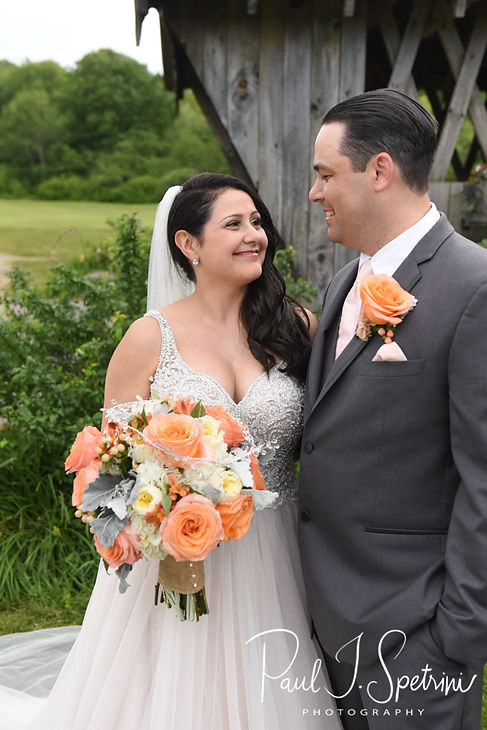 Jacob & Stephanie pose for a formal photo following their June 2018 wedding ceremony at Foster Country Club in Foster, Rhode Island.