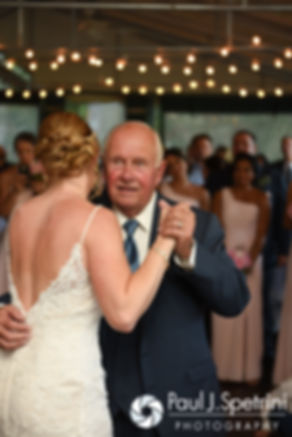 Kim dances with her father during her August 2016 wedding at Whispering Pines Conference Center in West Greenwich, Rhode Island.