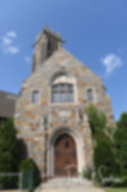 A look at the church prior to Courtnie and Richardson's August 2018 wedding ceremony at Glad Tidings Church in Quincy, Massachusetts.