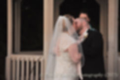 Kerry and Adam share their first kiss at their fall wedding at Quidnessett Country Club in North Kingstown, Rhode Island on October 23rd, 2015.