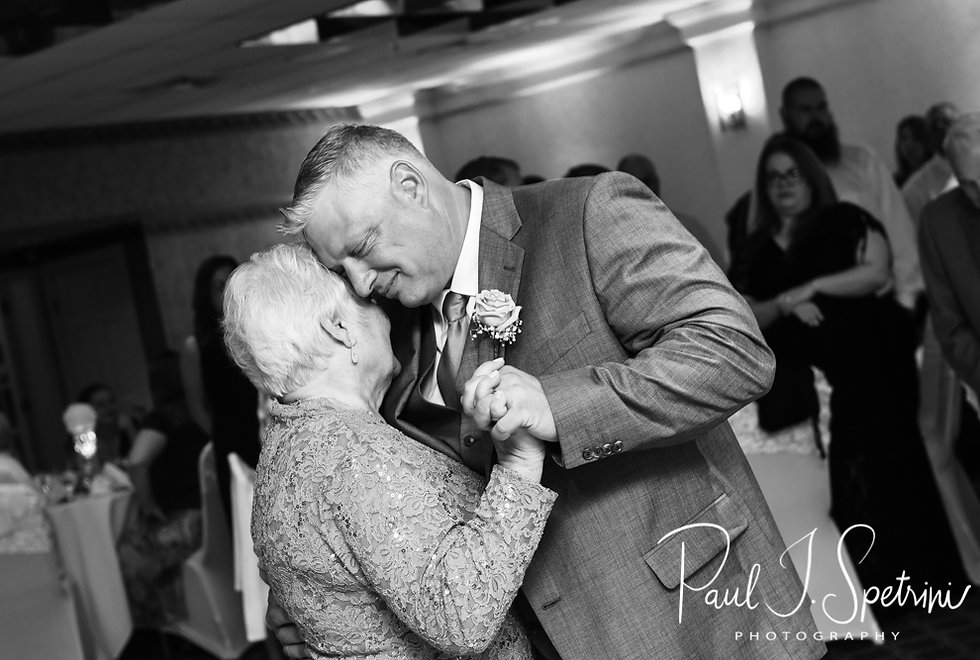 Rick and his mother dance during his August 2018 wedding reception at Twelve Acres in Smithfield, Rhode Island.