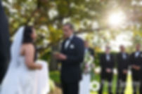 Arten reads his vows during his September 2017 wedding ceremony at Wannamoisett Country Club in Rumford, Rhode Island.