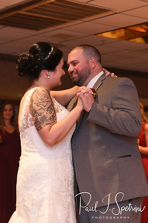 Justine & Jon share their first dance as husband and wife during their October 2018 wedding reception at Twelve Acres in Smithfield, Rhode Island.