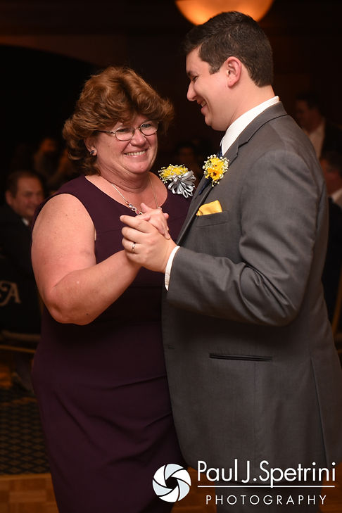 Chris dances with his mother during his October 2016 wedding reception at the Ashworth by the Sea Hotel in Hampton, New Hampshire.