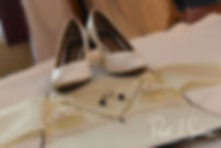 A look at Selah's shoes and jewelry prior to her August 2018 wedding ceremony at The Rotunda Ballroom at Easton's Beach in Newport, Rhode Island.