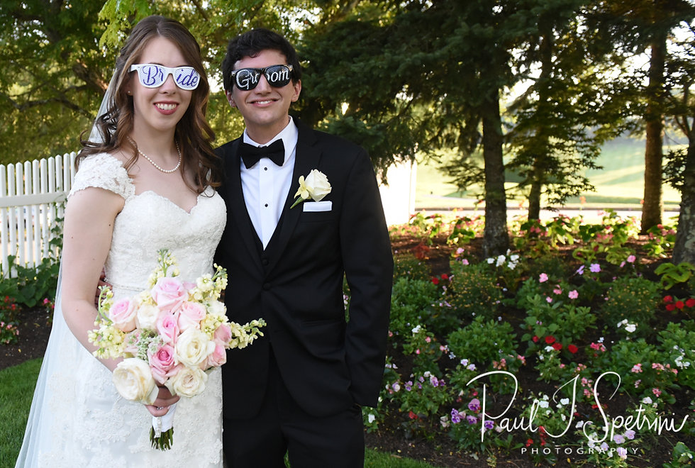 Brian & Sarah pose for a formal photo prior to their June 2018 wedding reception at Pleasant Valley Country Club in Sutton, Massachusetts.