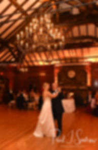 Meghan and her father dance during her September 2018 wedding reception at Squantum Association in Riverside, Rhode Island.