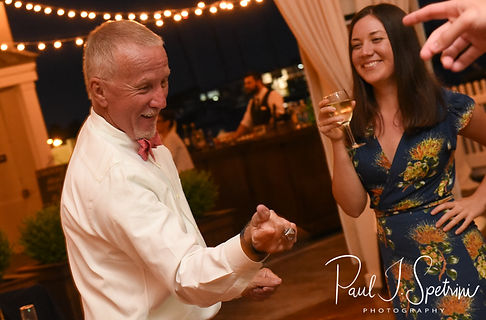 Mike dancesduring his May 2018 wedding reception at Regatta Place in Newport, Rhode Island.