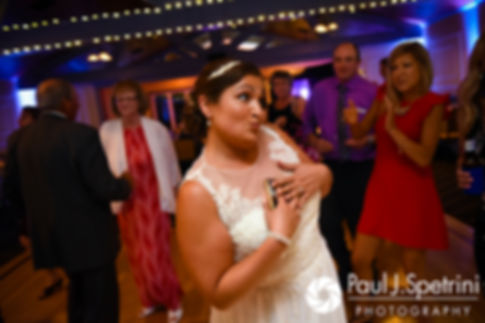 Toni dances during her August 2017 wedding reception at Crystal Lake Golf Club in Mapleville, Rhode Island.