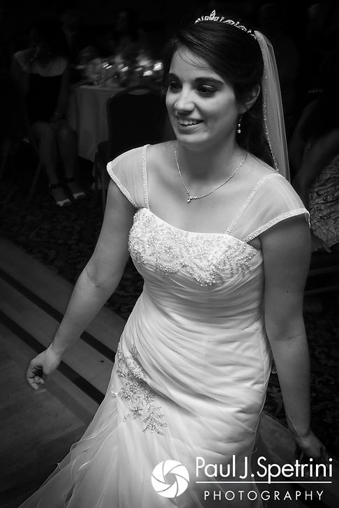 Gianna smiles during her July 2017 wedding reception at Quidnessett Country Club in North Kingstown, Rhode Island.