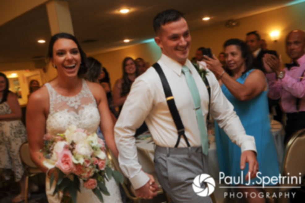 Sean and Cassie are officially introduced during their July 2017 wedding reception at Rachel's Lakeside in Dartmouth, Massachusetts.