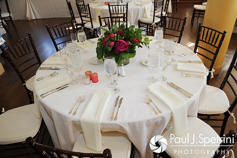 A look at the decorations for Dan and Simonne's June 2016 wedding in Providence, Rhode Island.