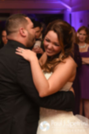 Stephanie and Henry dance during their October 2016 wedding reception at Lake Pearl Luciano's in Wrentham, Massachusetts.