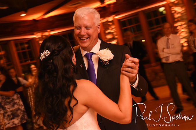 Nicole and her father dance during her September 2018 wedding reception at The Towers in Narragansett, Rhode Island.