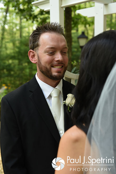 Justin smiles for a photo following his July 2016 wedding at St. Paul the Apostle Catholic Church in Foster, Rhode Island.