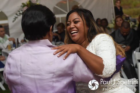 Lisajean dances with her father during her October 2016 wedding reception in Charlestown, Rhode Island.