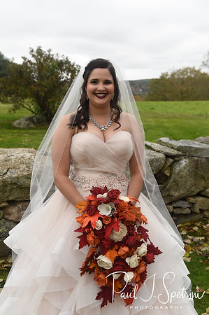 Makayla smiles for a photo prior to her October 2018 wedding ceremony at Zukas Hilltop Barn in Spencer, Massachusetts.