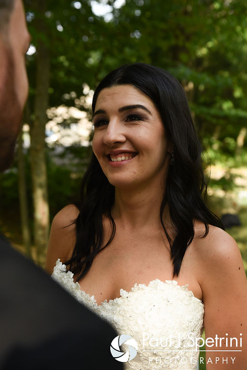 Lauryn smiles for a photo following her July 2016 wedding at St. Paul the Apostle Catholic Church in Foster, Rhode Island.