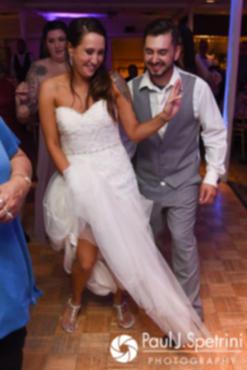 Stacey and John dance during their September 2017 wedding reception in Warren, Rhode Island.