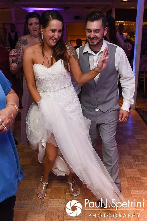 Stacey and John dance during their September 2017 wedding reception in Warren, Rhode Island.