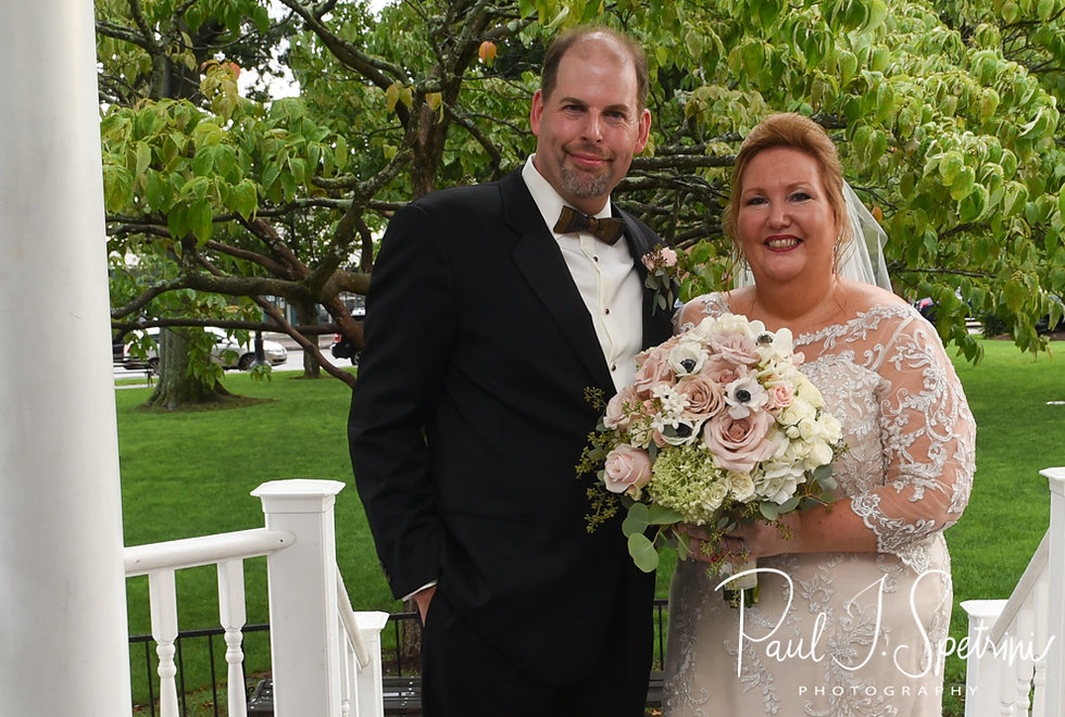 Patti & Bob pose for a formal photo following their August 2018 wedding ceremony at the Walter J. Dempsey Memorial Bandstand in Norwood, Massachusetts.