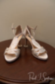 A look at Kaytii's shoes prior to her May 2018 wedding ceremony at Meadowbrook Inn in Charlestown, Rhode Island.
