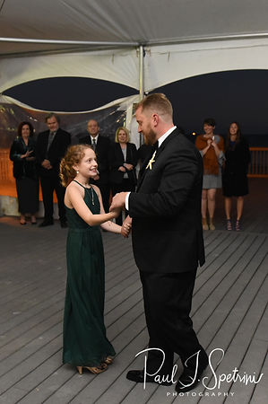 Brandon and his daughter dance during his November 2018 wedding reception at the North Beach Clubhouse in Narragansett, Rhode Island.