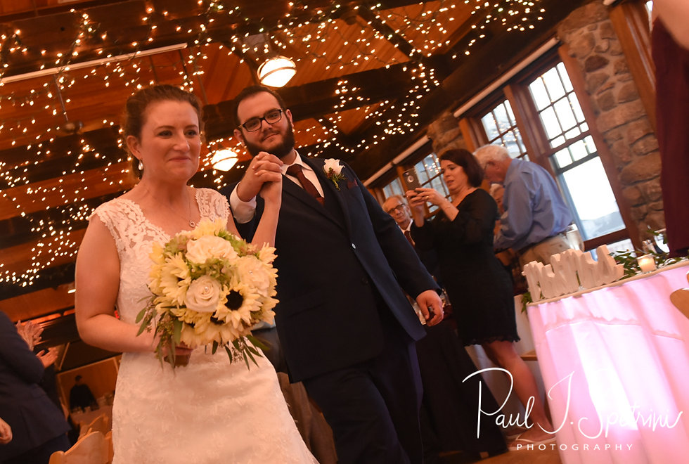 Rob and Allie are introduced during their October 2018 wedding reception at The Towers in Narragansett, Rhode Island.