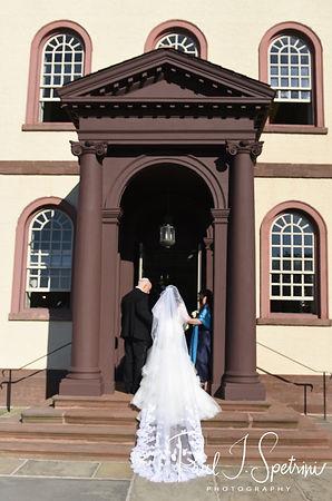 Helen enters the Touro Syngogue in Newport, Rhode Island.