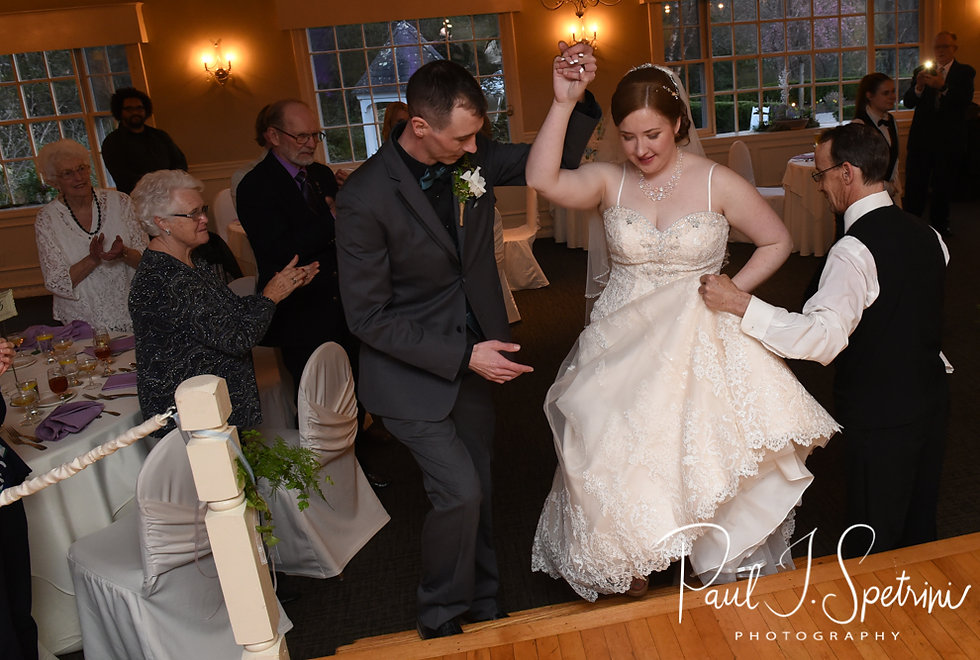 Nate & Kaytii are introduced during their May 2018 wedding reception at Meadowbrook Inn in Charlestown, Rhode Island.